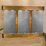 Olympus Falls: Black FeatherStone and Rustic Copper Trim with Rounded Corners