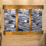 Olympus Falls: Black Spider Marble and Rustic Copper Trim with Rounded Corners