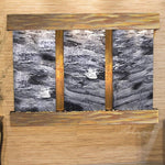 Olympus Falls: Black Spider Marble and Rustic Copper Trim with Squared Corners