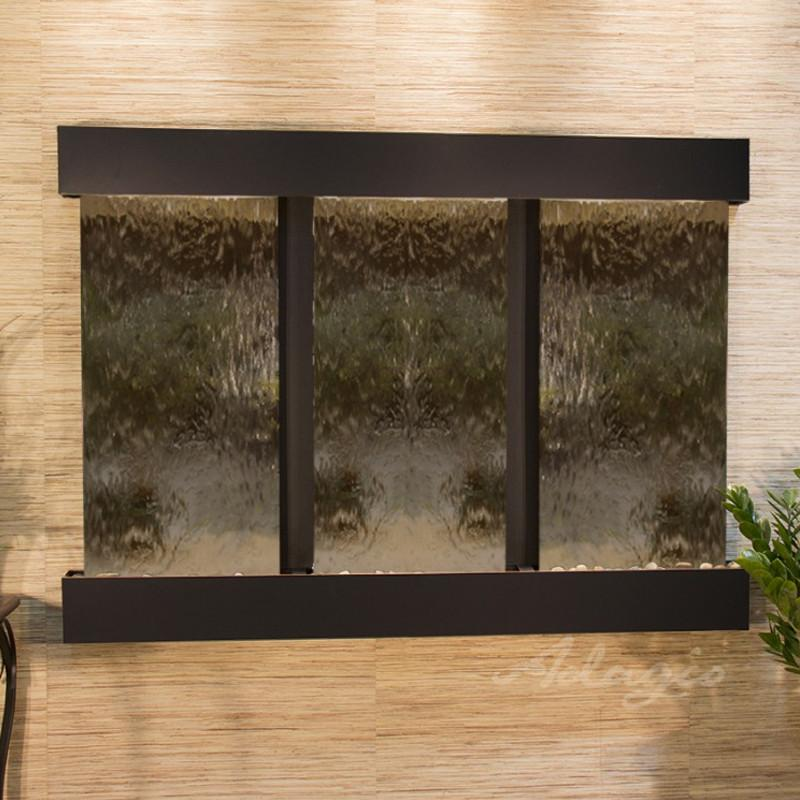 Olympus Falls: Bronze Mirror and Blackened Copper Trim with Squared Corners