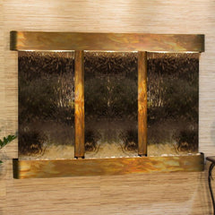 Olympus Falls: Bronze Mirror and Rustic Copper Trim with Rounded Corners