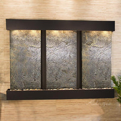 Olympus Falls: Green FeatherStone and Blackened Copper Trim with Rounded Corners