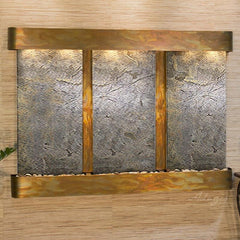 Olympus Falls: Green FeatherStone and Rustic Copper Trim with Rounded Corners