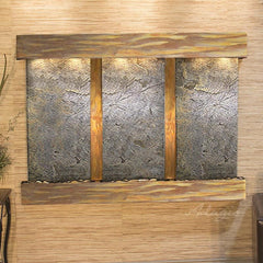 Olympus Falls: Green FeatherStone and Rustic Copper Trim with Squared Corners