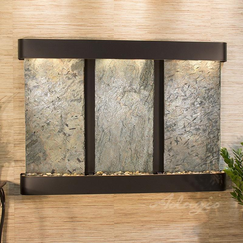 Olympus Falls: Green Slate and Blackened Copper Trim with Rounded Corners