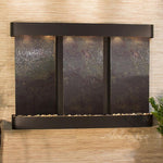 Olympus Falls: Multi-Color FeatherStone and Blackened Copper Trim with Rounded Corners