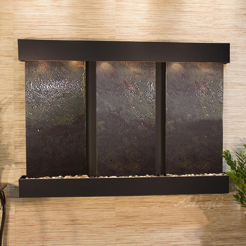 Olympus Falls: Multi-Color FeatherStone and Blackened Copper Trim with Squared Corners