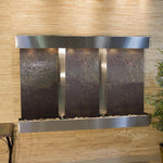 Olympus Falls: Multi-Color FeatherStone and Stainless Steel Trim with Squared Corners