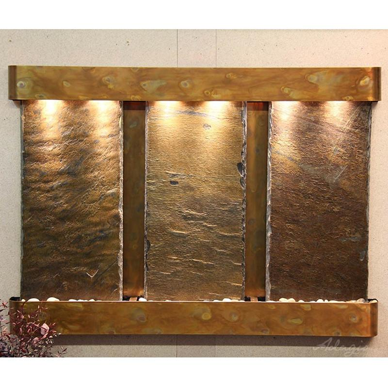 Olympus Falls: Multi-Color Slate and Rustic Copper Trim with Rounded Corners