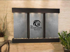 Olympus Falls: Black FeatherStone and Blackened Copper Trim with Squared Corners