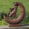Once Upon a Moon Cast Stone Garden Statue - Soothing Company
