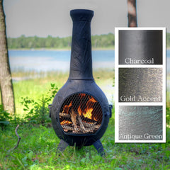 The Blue Rooster Orchid Chiminea - Soothing Company