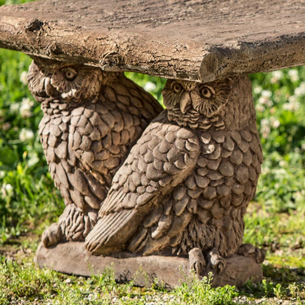 Owl Garden Stone Bench – Soothing Company