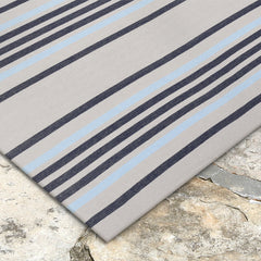 Liora Manne Plaza Stripe Navy Area Rug - Soothing Company