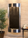 Pacifica Waters: Black FeatherStone with Stainless Steel Trim