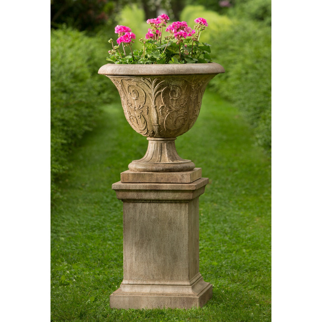 Palais Arabesque Urn Garden Planter on Pedestal - Soothing Company