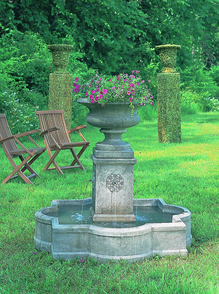 Palazzo Urn Fountain with top as planter - Soothing Company