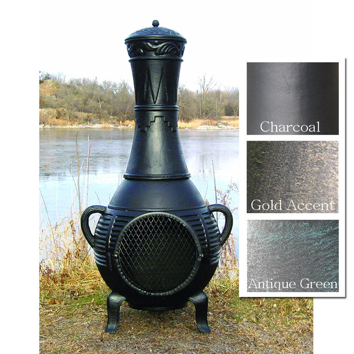 The Blue Rooster Pine Chiminea - Soothing Company