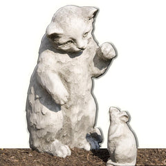 Playful Kitten Cast Stone Garden Statue - Soothing Company