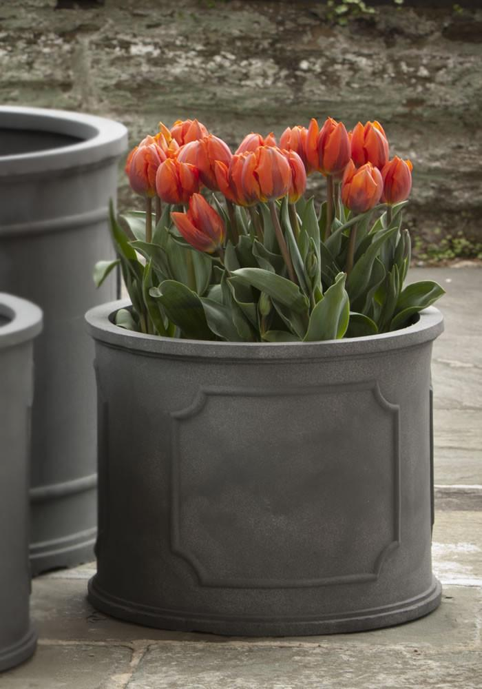 Portsmouth Round Planter in Lead - Soothing Company