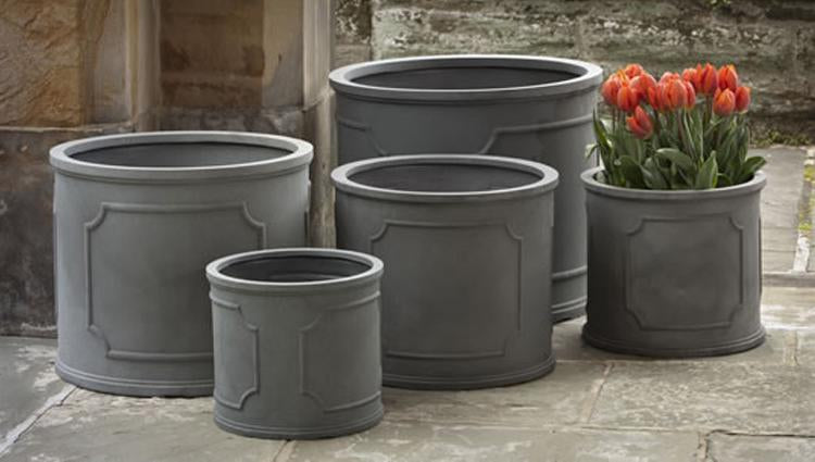 Portsmouth Round Planters in Lead - Soothing Companys