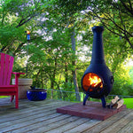 The Blue Rooster Prairie Chiminea - Soothing Company