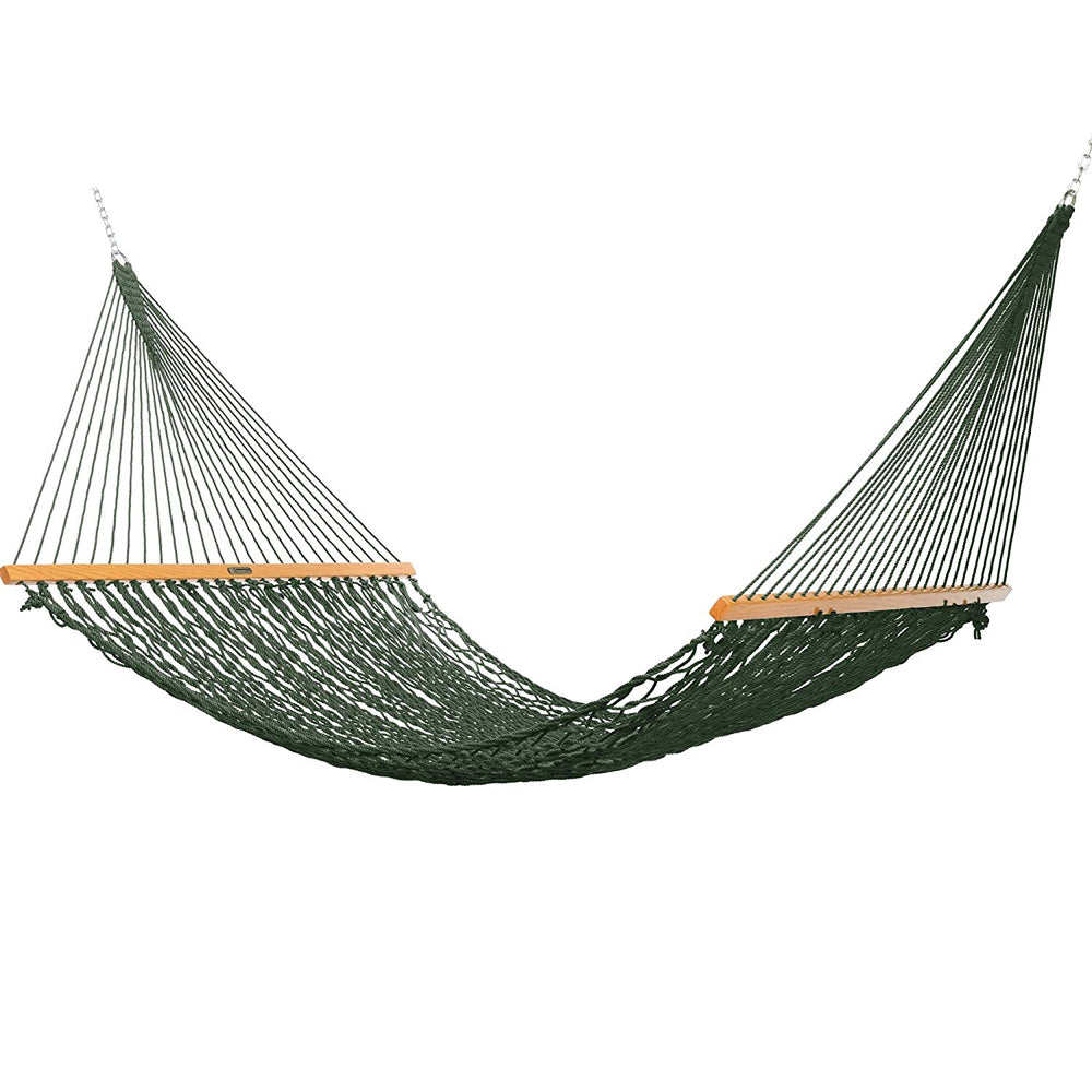 Presidential Size Original DuraCord® Rope Hammock in Green - Soothing Company
