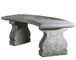 Provencal Curved Cast Stone Bench - Soothing Company