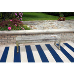 Liora Manne Sorrento Rugby Stripe Navy Area Rug - Outdoor Art ProsLiora Manne Sorrento Rugby Stripe Navy Area Rug - Soothing Company