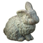 Rabbit with One Ear Up Cast Stone Garden Statue - Soothing Company