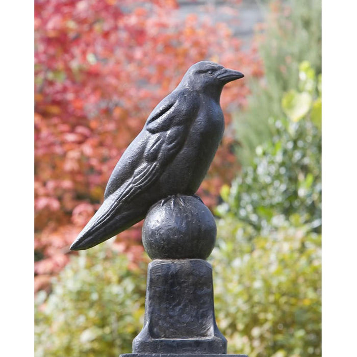 Raven Cast Stone Garden Statue - Soothing Company