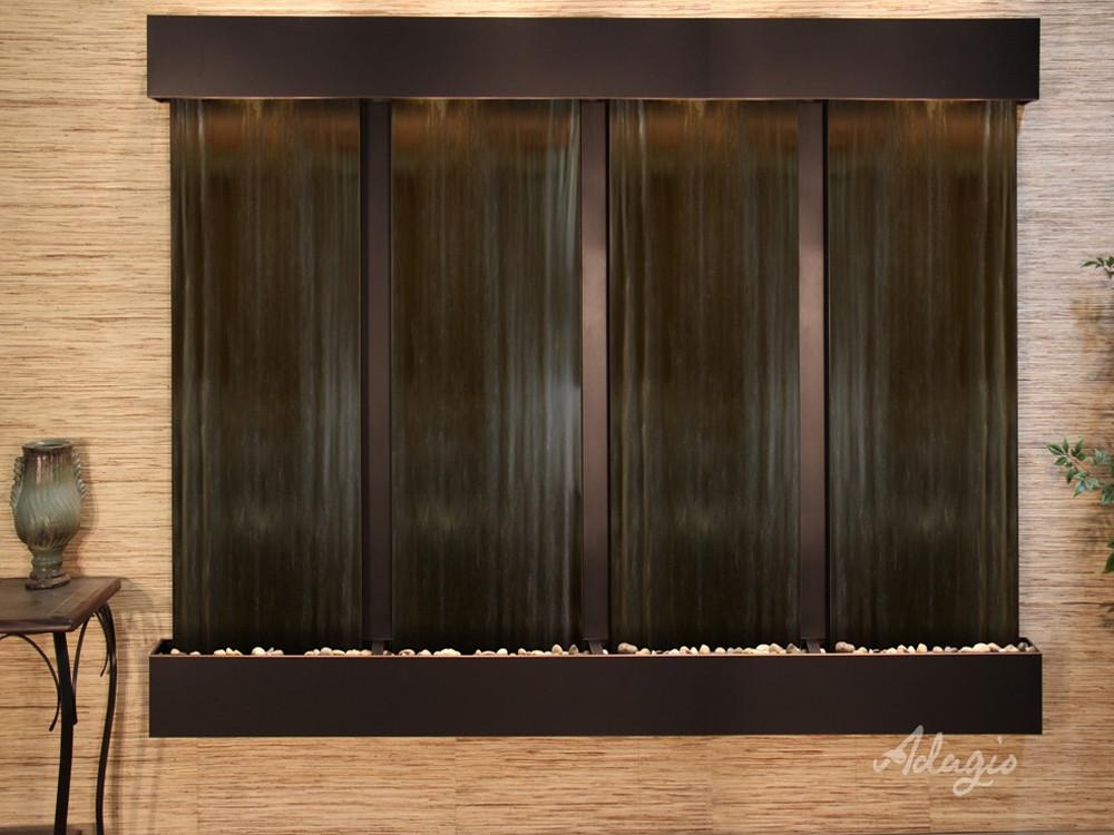 Regal Falls: Bronze Mirror and Blackened Copper Trim with Squared Corners