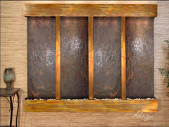 Regal Falls: Multi-Color Slate and Rustic Copper Trim with Squared Corners