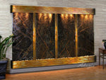 Regal Falls:  Rainforest Green Marble and Rustic Copper Trim with Rounded Corners