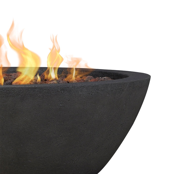 Riverside Gas Fire Bowl with NG Conversion Kit in Shale - Soothing Company