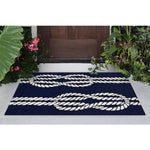 Liora Manne Capri Ropes Navy Area Rug - Soothing Company