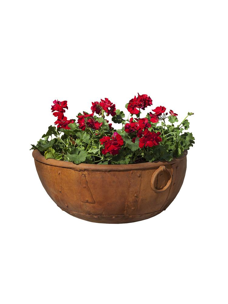 Rustic Kettle Garden Planter - Soothing Company