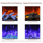 Ambient Canopy Lighting for Amantii Symmetry Electric Fireplaces - Soothing Company