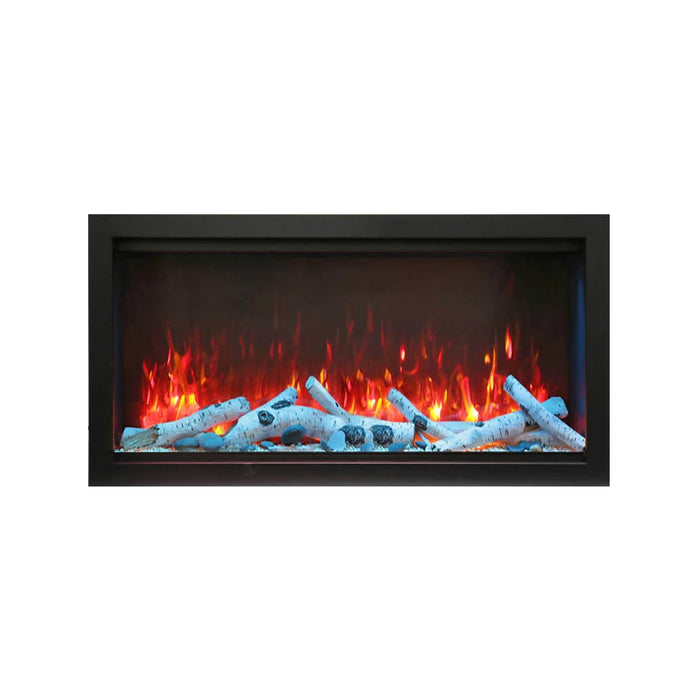 Amantii 34″ Extra Tall Symmetry Electric Fireplace - Soothing Company
