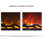 Ambient Canopy Lighting for Amantii Symmetry Electric Fireplace - Soothing Company