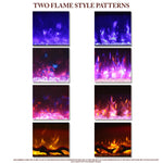 Examples of Two Flame Style Patterns for Amantii Symmetry Electric Fireplace - Soothing Company