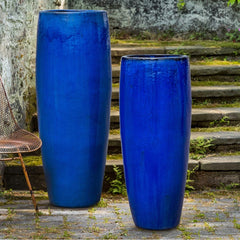 Sabine Tall Planter in Riviera Blue - Soothing Company