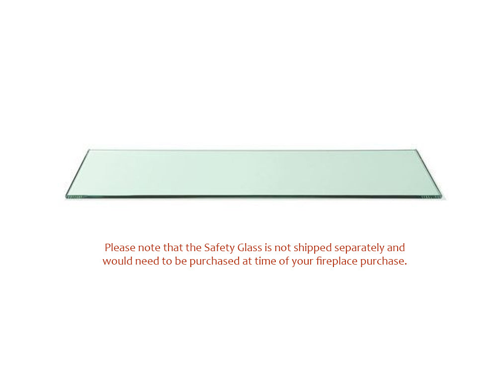 Optional Safety Glass for Bio Blaze Square XL 2 Ethanol Wall Fireplace - Soothing Company
