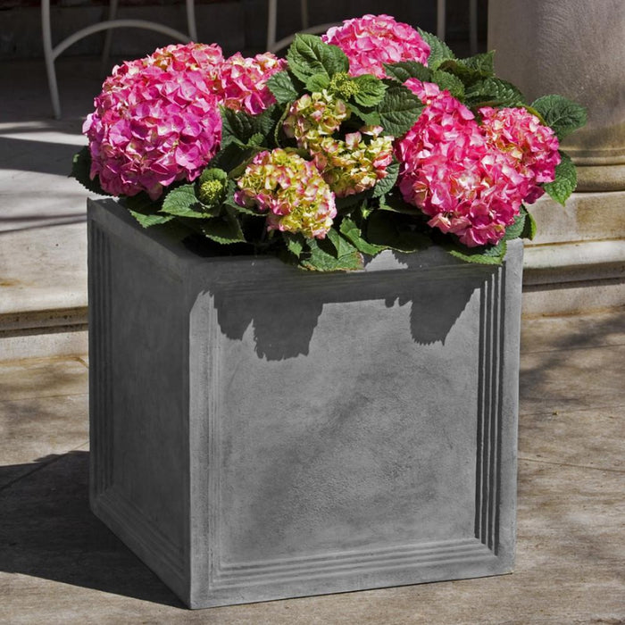 Sandhurst Square Lite® Planter - Set of 4 in Lead - Soothing Company