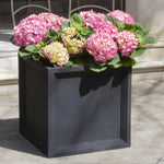 Sandhurst Square Lite® Planter - Set of 4 in Onyx Black - Soothing Company