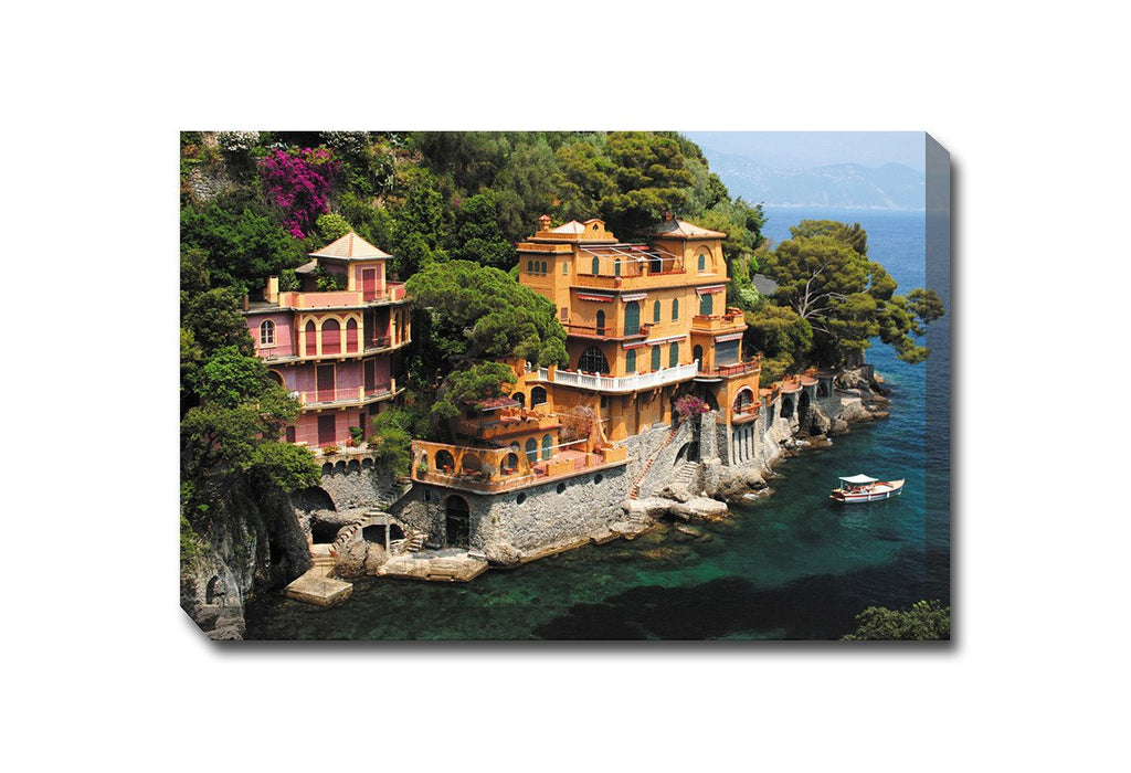 Seaside Villa Outdoor Canvas Art