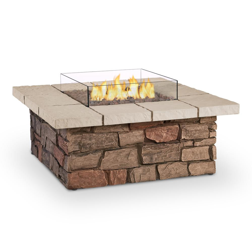 Sedona Square Propane Fire Table in Buff with NG Conversion Kit - Soothing Company