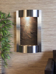 Serene Waters: Multi-Color FeatherStone with Stainless Steel Trim