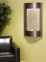 Serene Waters: Silver Mirror with Copper Vein Trim