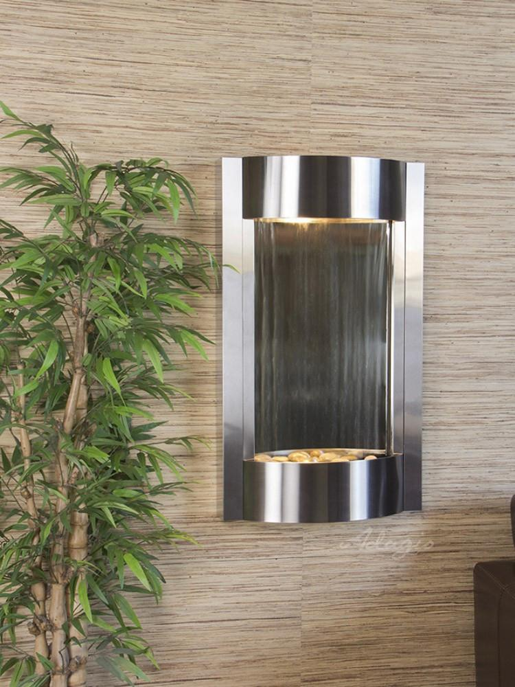 Serene Waters: Silver Mirror with Stainless Steel Trim